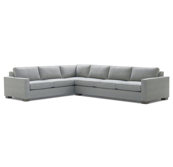 CARSON RIGHT SECTIONAL, Sunbrella Performance Textured Two-Tone Linen - STORM                             , hi-res