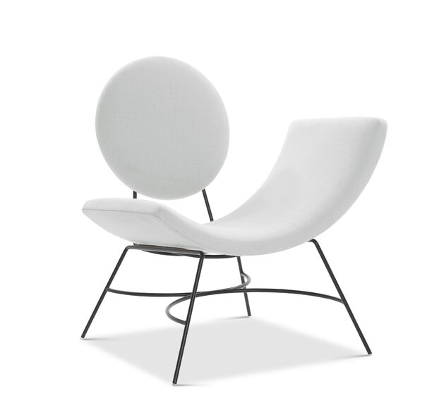 ELROY RIGHT ARM CHAIR, BELGIAN LINEN - WHIT, hi-res