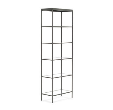 VIENNA TALL BOOKCASE - PEWTER, , hi-res