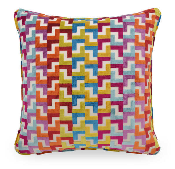 22 IN. X 22 IN. DOWN ACCENT PILLOW, CHROMATIC - MULTI, hi-res