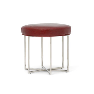 ASTRA LEATHER PULL-UP STOOL, MONT BLANC - CRIMSON, hi-res