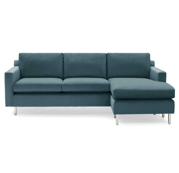 HUNTER STUDIO NO WELT 95 RIGHT CHAISE SECTIONAL, PIPPIN - TEAL, hi-res
