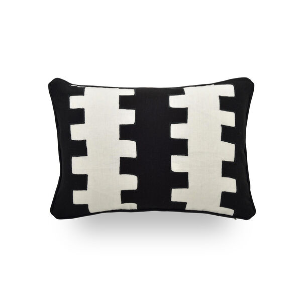 18 IN. X 12 IN. DOWN ACCENT PILLOW, CHASE - BLACK & WHITE, hi-res
