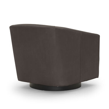 COOPER LEATHER SWIVEL CHAIR, MONT BLANC - SPANISH MOSS, hi-res