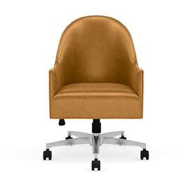 BELLA LEATHER DESK CHAIR, MONT BLANC - FAWN, hi-res
