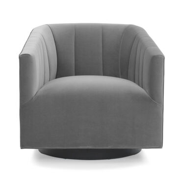 COOPER STUDIO CHANNEL TUFTED SWIVEL CHAIR, VIVID - SILVER, hi-res