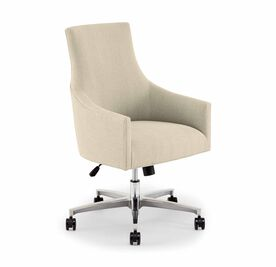 ADA DESK CHAIR, Tone on Tone Chenille - LINEN, hi-res