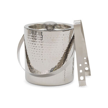 HAMMERED DOUBLE WALL ICE BUCKET, , hi-res