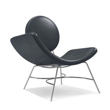 ELROY LEATHER LEFT ARM CHAIR, MONT BLANC - BLUE SMOKE, hi-res