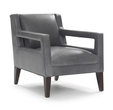 DUKE LEATHER CHAIR, HIGHLAND - DENIM, hi-res