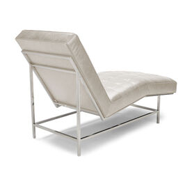 MAJOR LEATHER CHAISE, MONT BLANC - IVORY, hi-res
