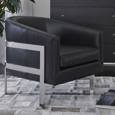 AVERY LEATHER CHAIR, , hi-res