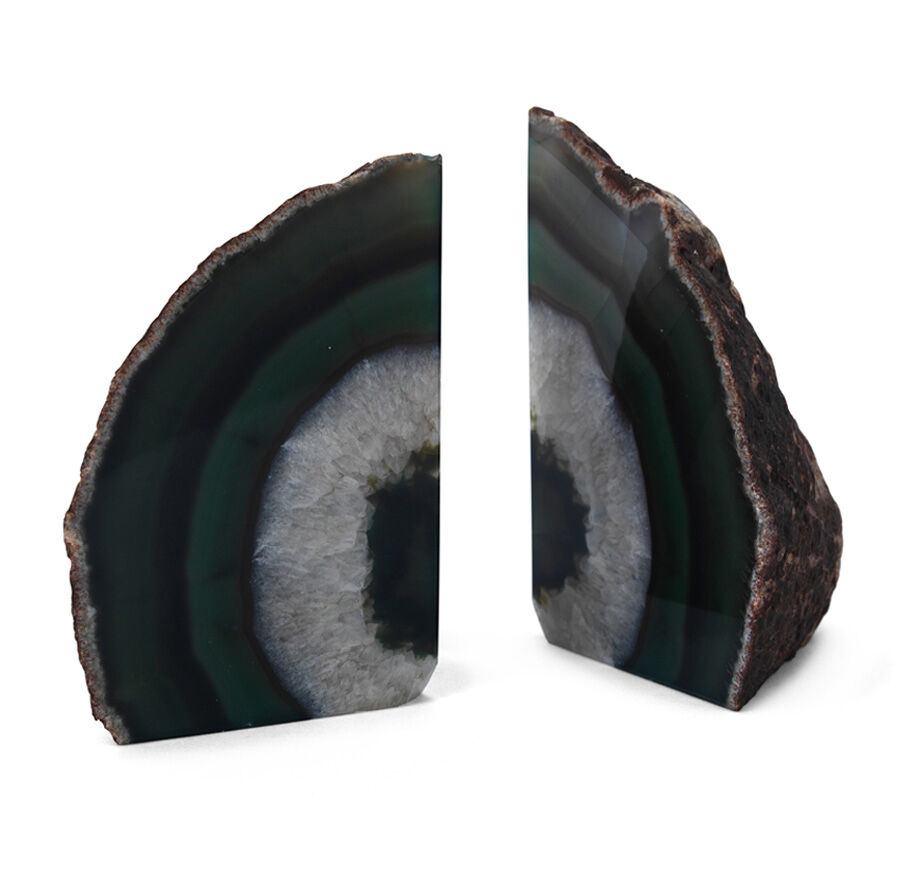 AGATE EMERALD LARGE BOOKENDS