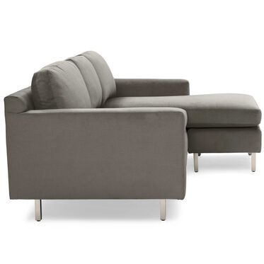 HUNTER STUDIO NO WELT 95 RIGHT CHAISE SECTIONAL, PIPPIN - MINK, hi-res