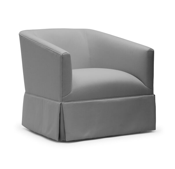 COOPER WITH SKIRT RETURN SWIVEL CHAIR, TERRACE - GRAPHITE, hi-res