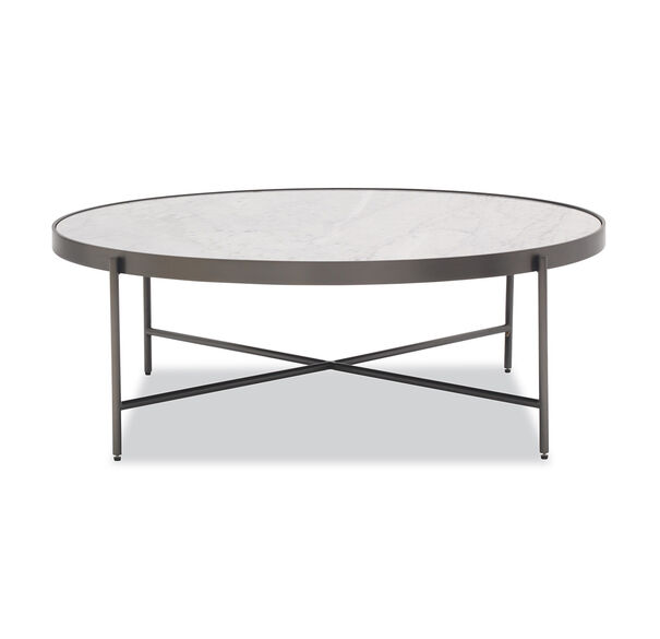 Restoration Hardware Marble Coffee Table: Round Marble Coffee Table