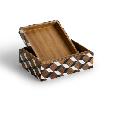CHECKERED SMALL BOX, , hi-res