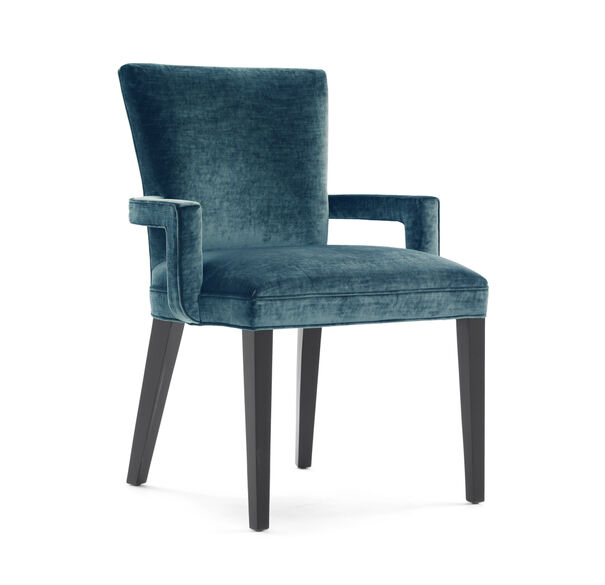 SIDNEY ARM DINING CHAIR, BODEN - AQUAMARINE, hi-res