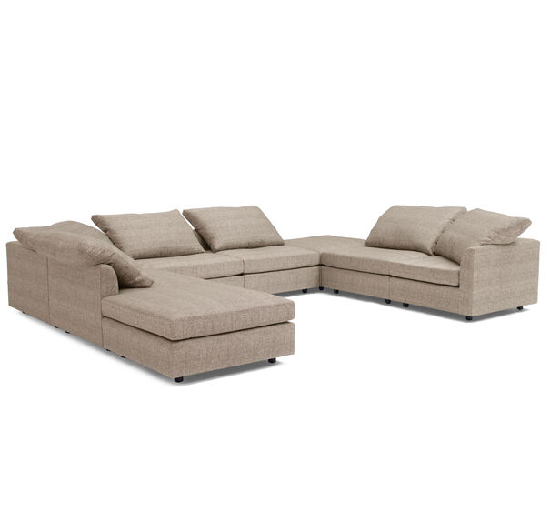 BIG EASY 8-PC SECTIONAL, COSTA - TAUPE, hi-res