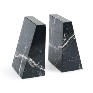BLACK AND WHITE MARBLE BOOKENDS, , hi-res