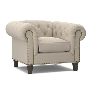 ADDISON CHAIR WITH NAILHEAD, BOULEVARD - ECRU, hi-res