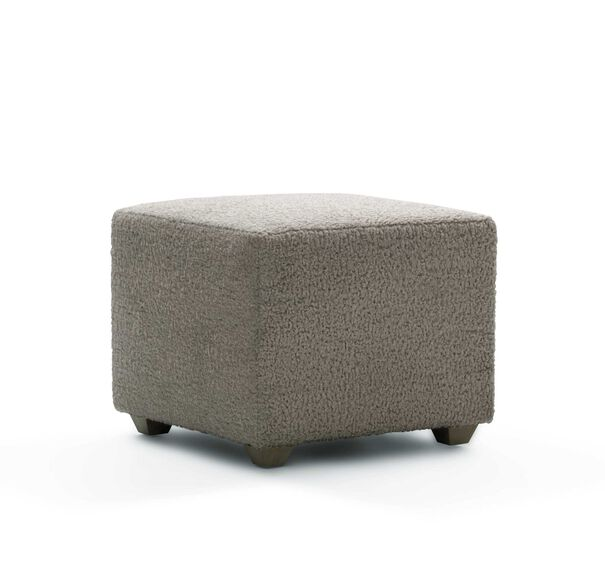 FRANNY SQUARE PULL UP OTTOMAN, SHERPA - PEWTER, hi-res