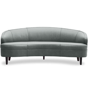 VERA LEATHER SOFA, MONT BLANC - STORM, hi-res