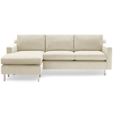 HUNTER STUDIO NO WELT 85 LEFT CHAISE SECTIONAL, PIPPIN - CREAM, hi-res