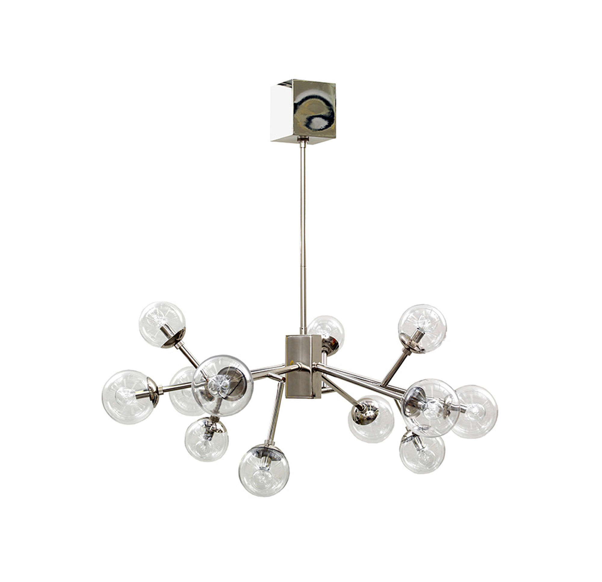 Savoy chandelier polished nickel with clear glass arubaitofo Image collections