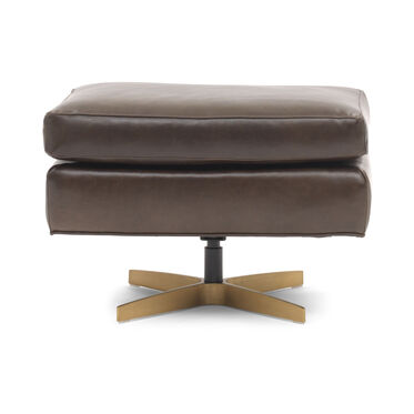 ORSON LEATHER OTTOMAN, MONT BLANC - SPANISH MOSS, hi-res