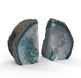 AGATE TURQUOISE LARGE BOOKENDS, , hi-res