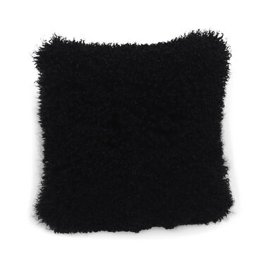 TIBETAN WOOL BLACK 20 IN. SQUARE THROW PILLOW, , hi-res