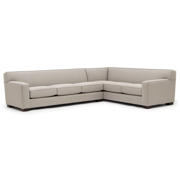 JEAN LUC LEFT SECTIONAL, Performance Textured pebble Weave - PEWTER                             , hi-res