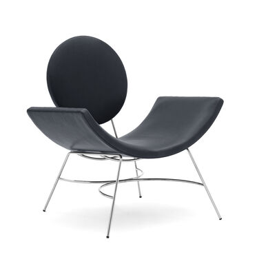 ELROY LEATHER CHAIR, MONT BLANC - BLUE SMOKE, hi-res