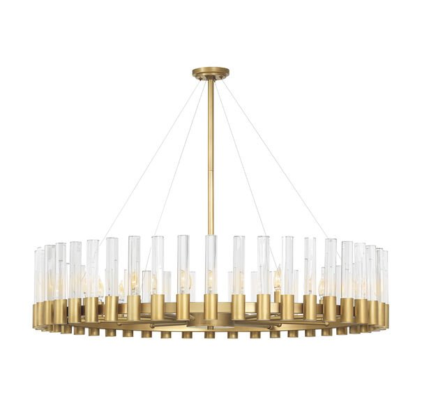 PERLA OVAL CHANDELIER - VINTAGE BRASS AND CHAMPAGNE CRYSTAL, , hi-res