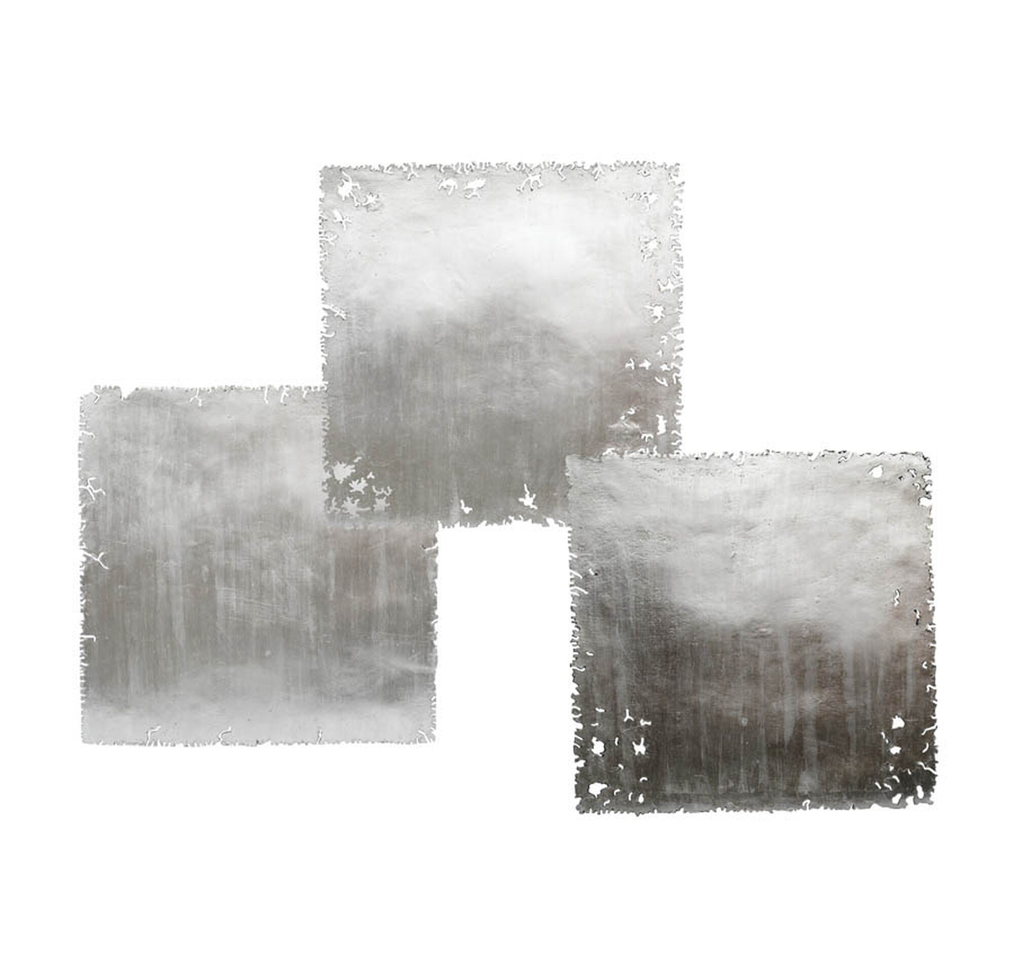 Favorite SILVER LEAF SQUARE WALL ART - SET OF 3 GC79