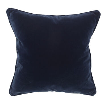 "VELVET 21"" X 21"" ACCENT PILLOW, LINLEY - BLUE, hi-res"