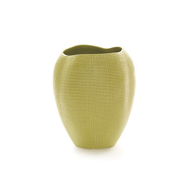 TEXTURED LIME VASE - TALL, , hi-res