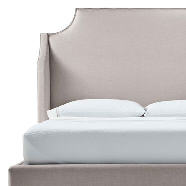 MIRABELLE QUEEN FLOATING RAIL BED, WORTH - PEWTER, hi-res