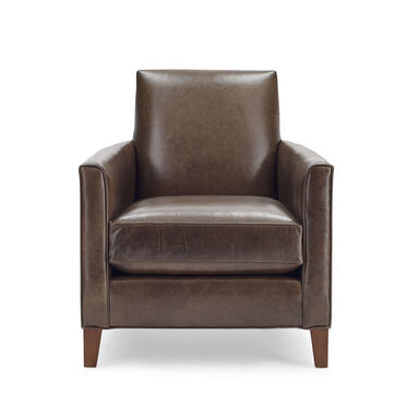 AIDEN LEATHER CHAIR, MONT BLANC - SPANISH MOSS, hi-res