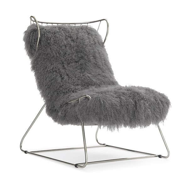 ENZO CHAIR - SILVER WITH POLISHED STAINLESS STEEL, , hi-res