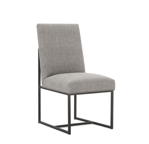 GAGE LOW DINING CHAIR - PEWTER, COSTA - GRAPHITE, hi-res