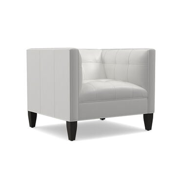 KENNEDY LEATHER CHAIR, TAHOE - WHITE, hi-res