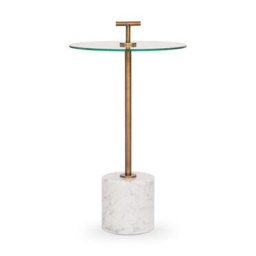 HANDLER PULL-UP SIDE TABLE - WHITE, , hi-res