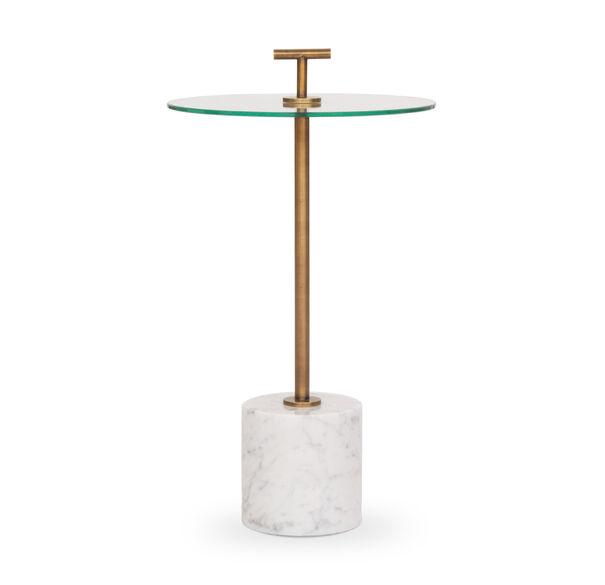 HANDLER PULL-UP SIDE TABLE - WHITE, , hi-res