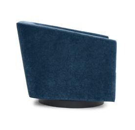 COOPER STUDIO FULL SWIVEL CHAIR, Performance Velvet - DEEP BLUE, hi-res