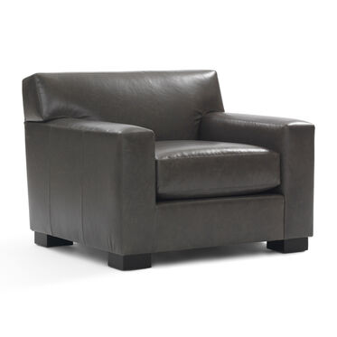 JEAN LUC NO WELT LEATHER CHAIR, TUSCANY - GREY SLATE, hi-res