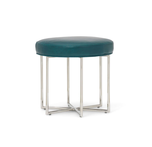 ASTRA LEATHER PULL-UP STOOL, MONT BLANC - MOUNTAIN SPRING, hi-res