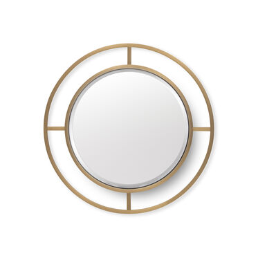 MING ROUND MIRROR - BRASS, , hi-res