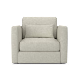 HAYWOOD CHAIR, Performance Textured Linen - SILVER, hi-res